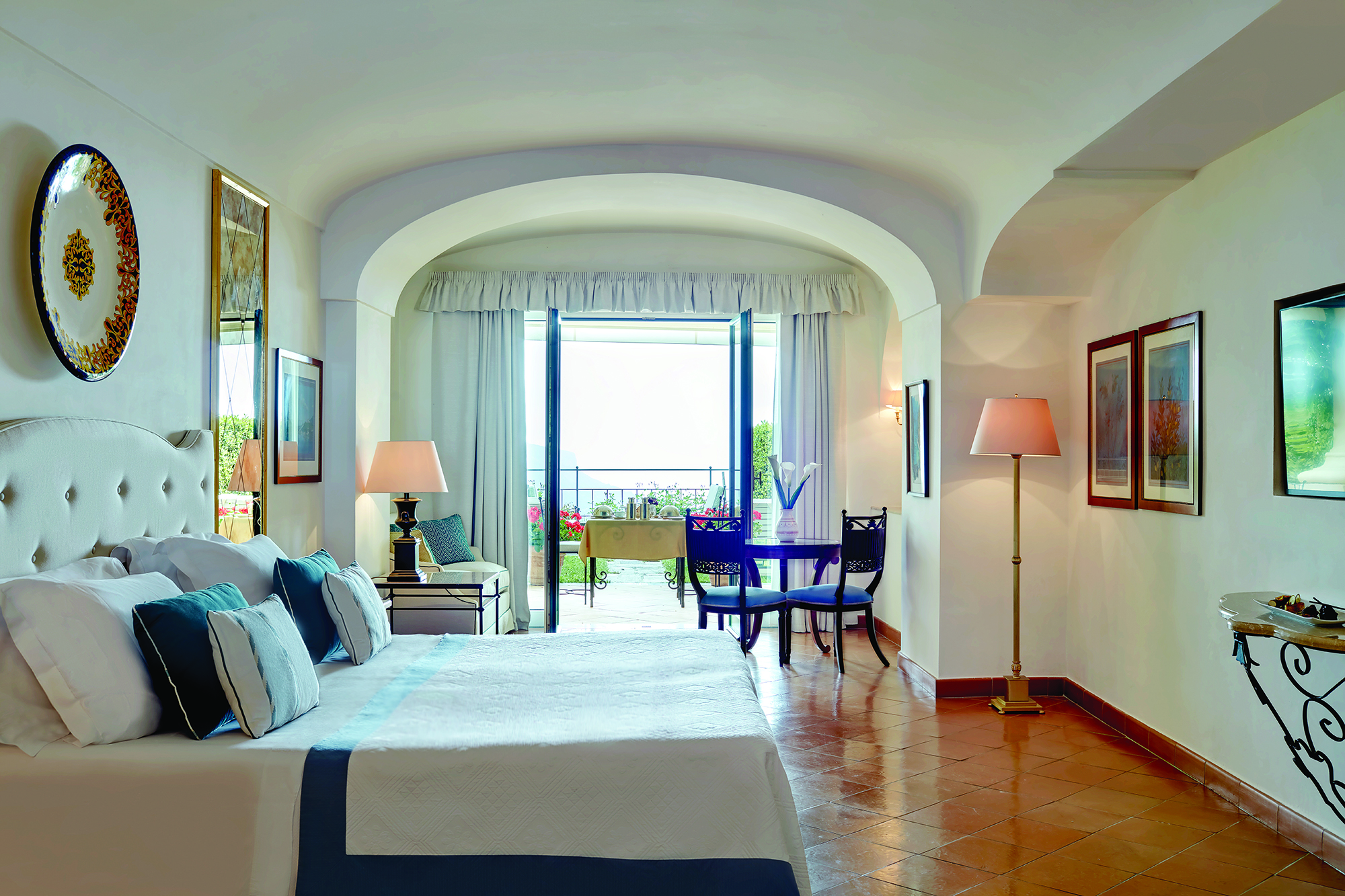 One of the beautiful suites at Belmond Hotel Caruso